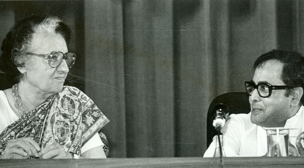 Pranab Mukherjee and Indira Gandhi