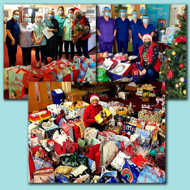 Heather delivers some of the donated gifts