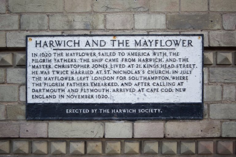 Harwich and the Mayflower