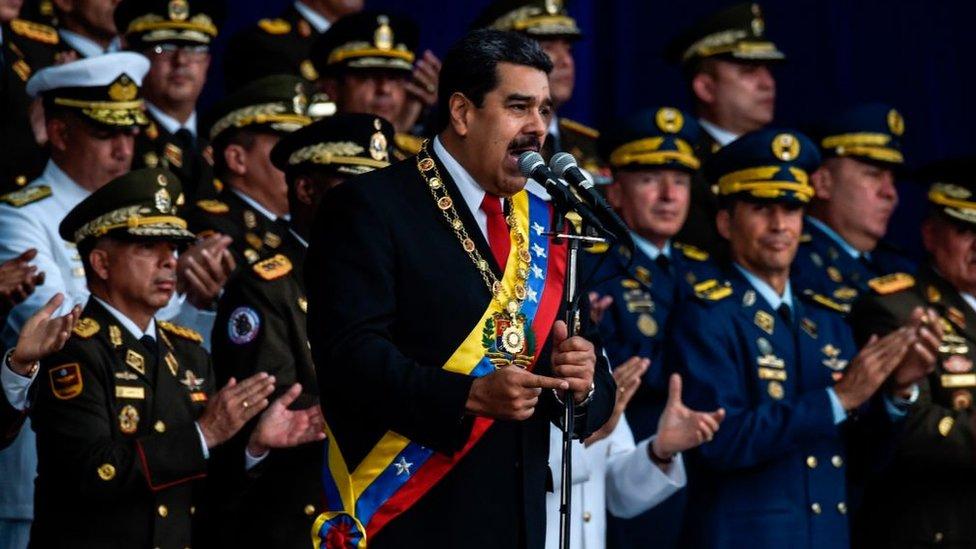 El supuesto atentado contra Maduro se produjo durante un acto militar.