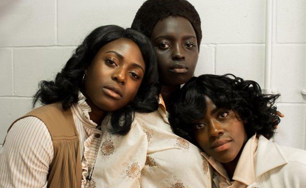 Three sisters: actresses Joyce Omotola, Akuc Bol and Bel Adawa