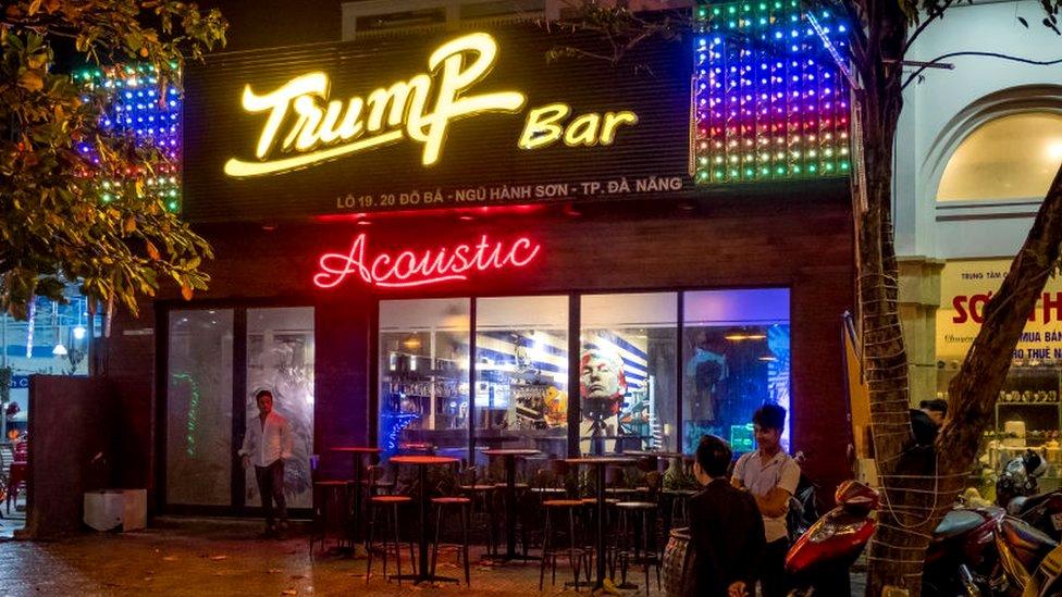 A Trump-themed bar in Vietnam