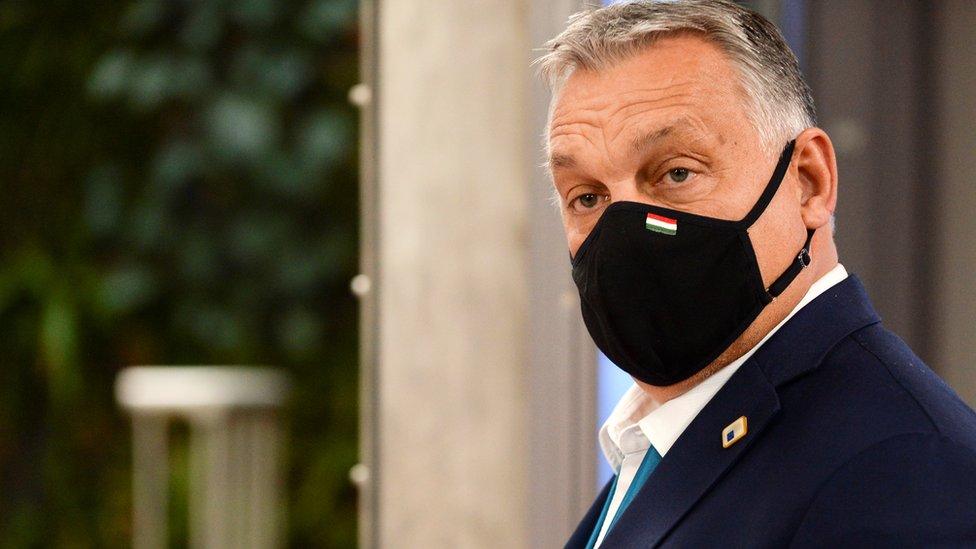 L'image montre le Premier ministre Viktor Orban