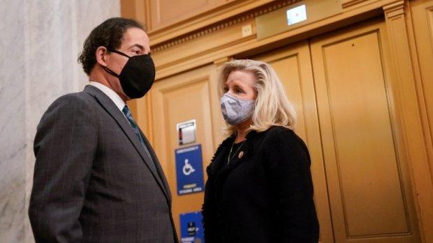 Jamie Raskin and Liz Cheney in the US Capitol