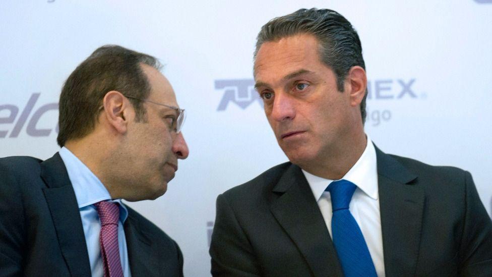Marco Antonio y Carlos Slim Domit, hijos del magnate