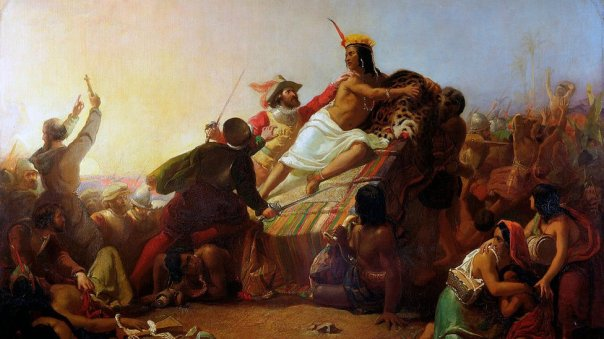 conquistadores españoles en Perú