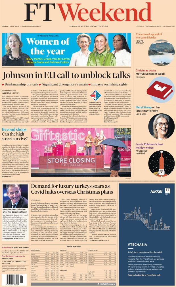 The Financial Times 5 December