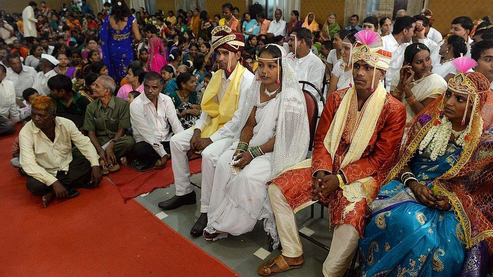 Una boda en la india.