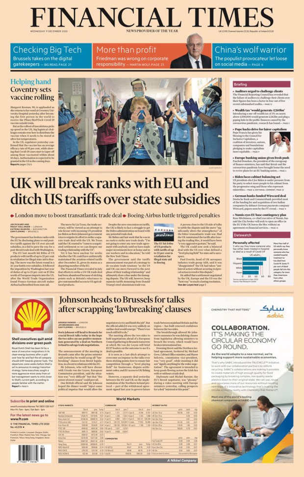 Financial Times Wednesday 9 December