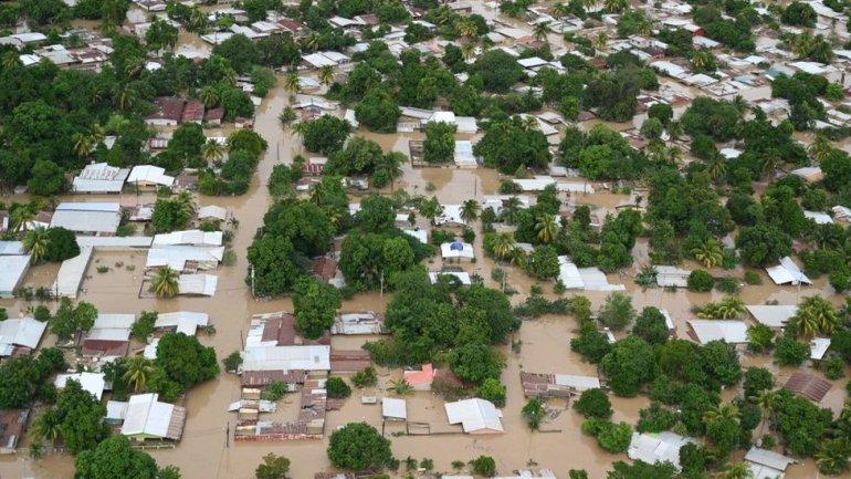A flood in Honduras