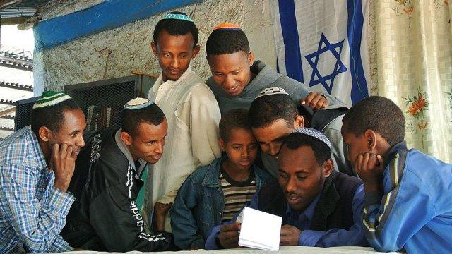 Falash Mura in a synagogue in Gondar in 2012