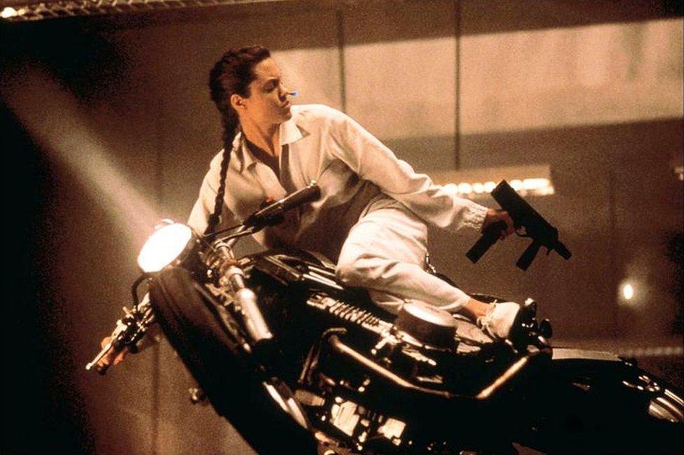 Imagen de Angelina Jolie en Tomb Raider.