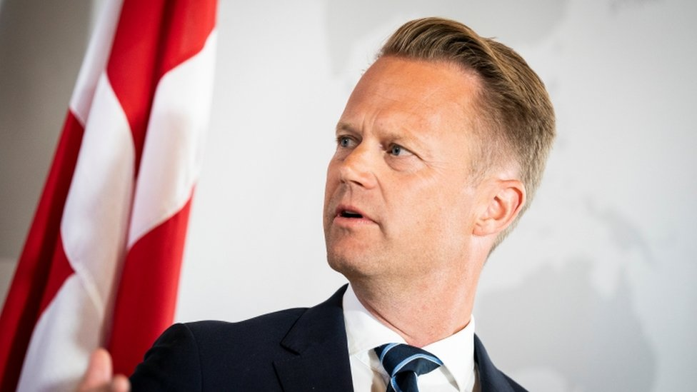 "Danish Foreign Minister Jeppe Kofod attends a news conference in Eigtved""s House, Copenhagen, Denmark, July 21, 2020"