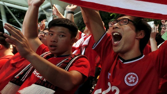 Why were Hong Kong fans booing their anthem? - BBC News