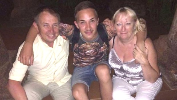 Martyn Hett with his dad and stepmum