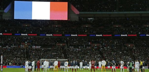 French flag during minute's silence