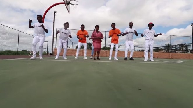 GeeSixFive with dancers in her music video