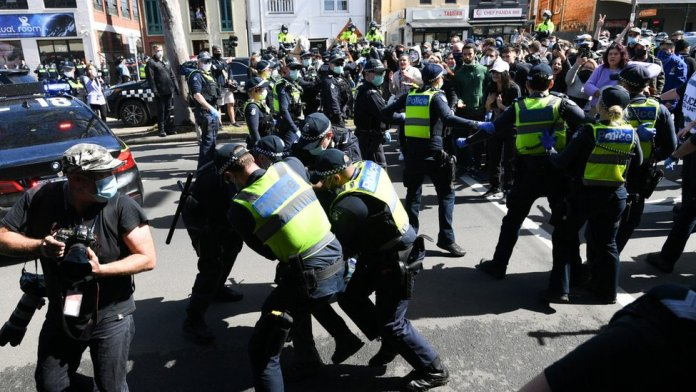 Protests in Melbourne