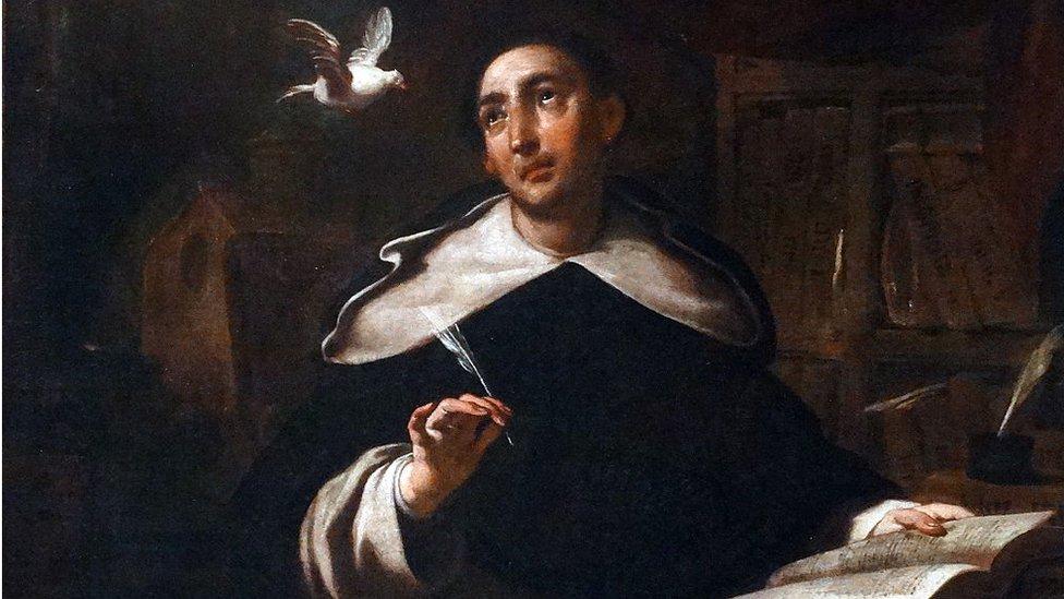 Óleo de Santo Tomás de Aquino, por el artista catalán Antoni Viladomat (1678-1755)