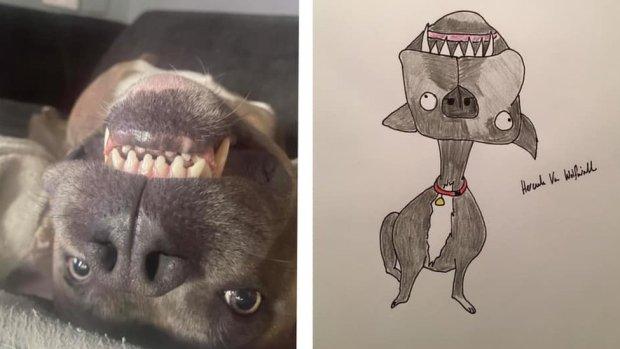 Cartoon of a dog