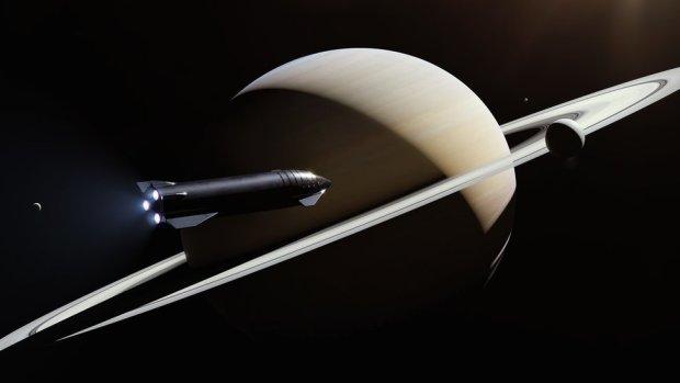 Starship at Saturn