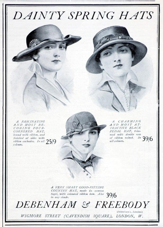An advert for women's hats