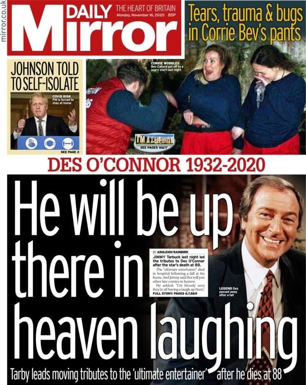 Daily Mirror Monday 16 November