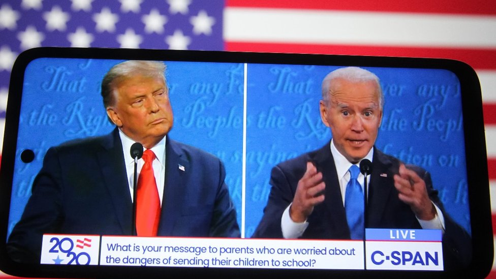 US election 2020: Fact-checking Trump and Biden on Covid - BBC News