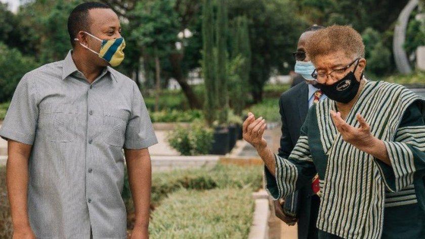PM Abiy Ahmed and Ellen Johnson Sirleaf