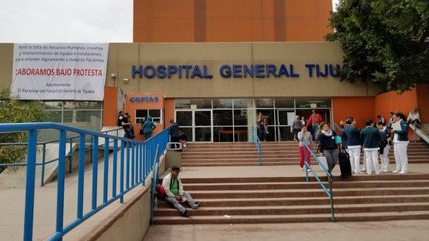 La entrada del Hospital General de Tijuana