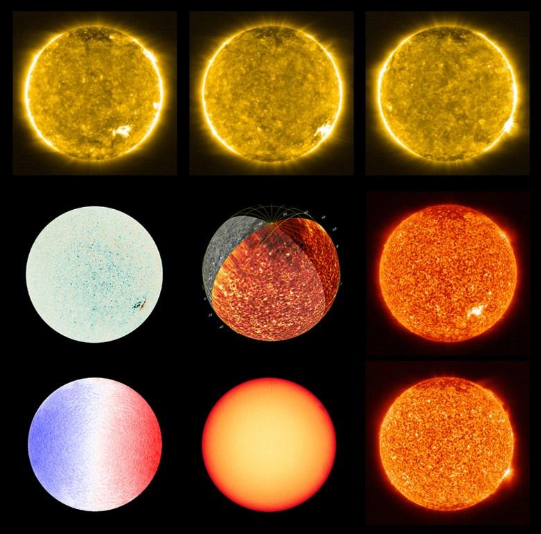 Diferentes vistas del Sol