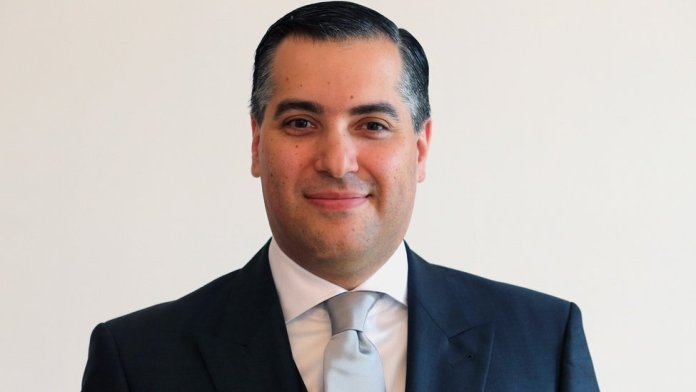 Mustapha Adib is pictured in 2013 after becoming the ambassador to Germany