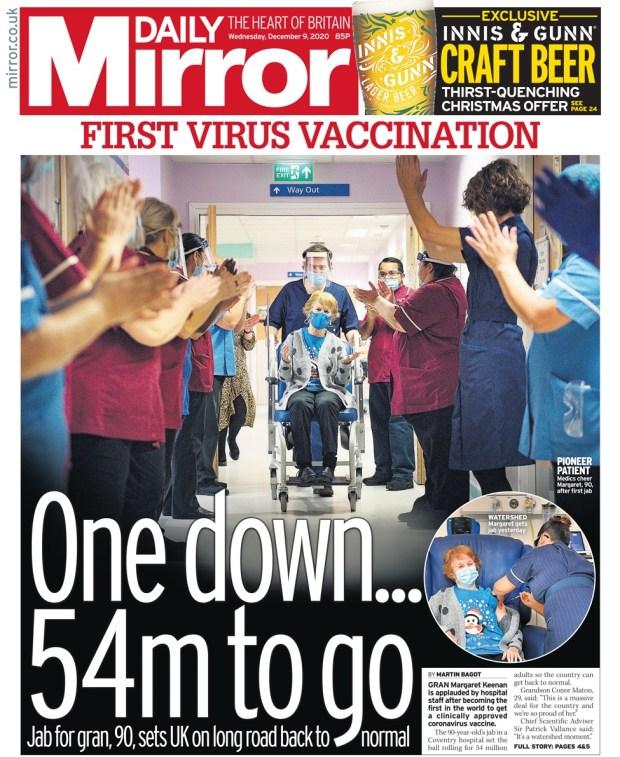 Daily Mirror - Wednesday 9 December