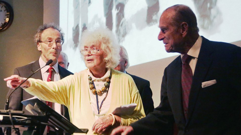 Jan Morris and Prince Philip
