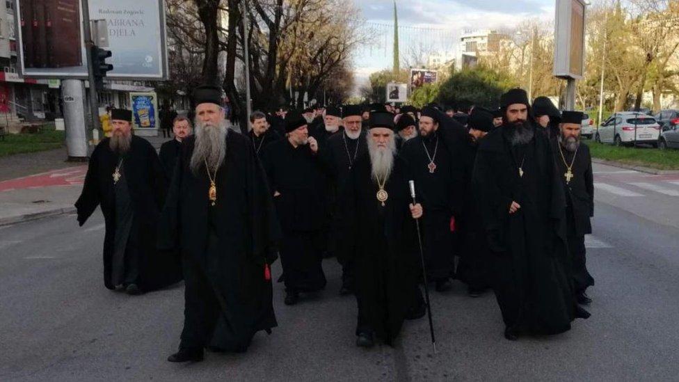 Podgorica sveštenici protest