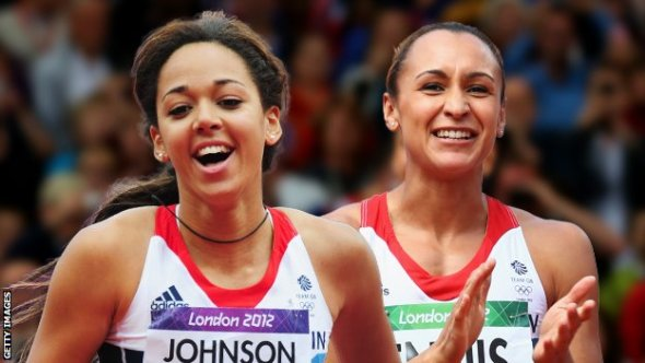 Katarina Johnson-Thompson (left) and Jessica Ennis-Hill (right)