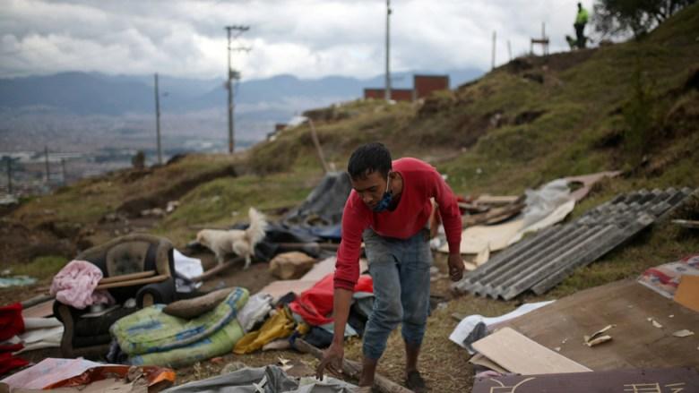 Desalojo en Colombia