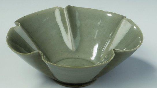 Vasija de celadón china del siglo X