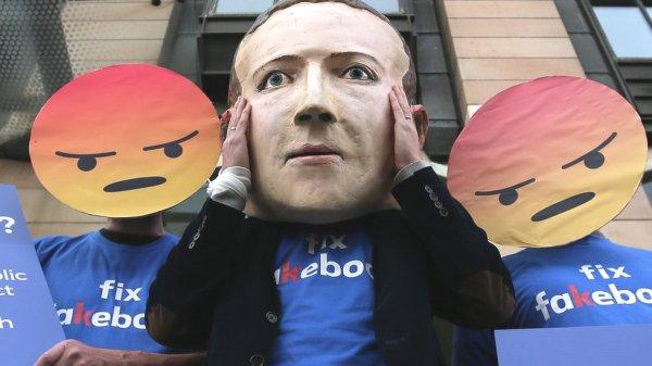 Protesta contra Facebook