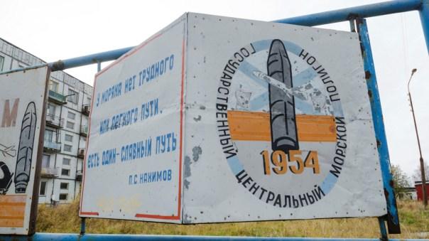 Lugar de pruebas en Nyonoksa, 2018