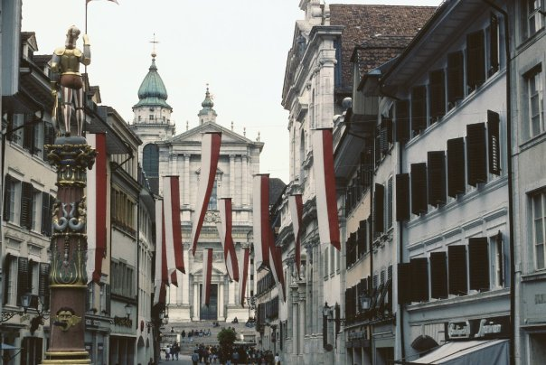 Una calle central de Solothurn