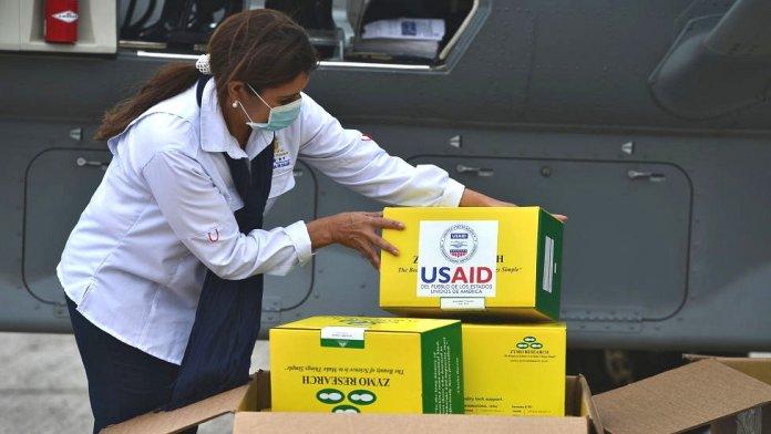 USAID aid sent to Honduras.