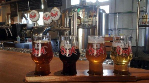 Muestras de cerveza