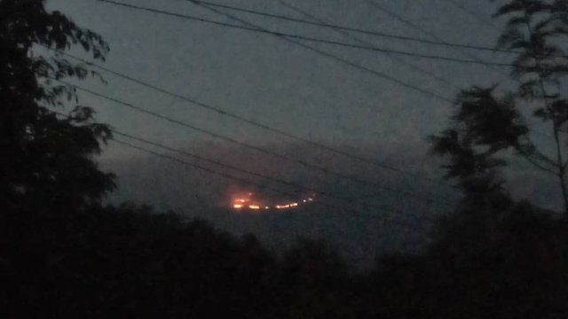 Incendie sur le Kilimandjaro