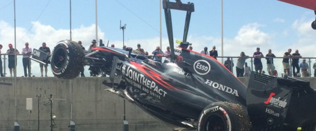 Jenson Button pulls out