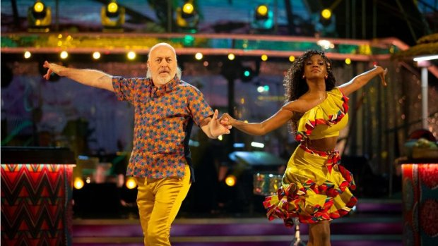 Actor and comedian Bill Bailey and Oti Mabuse