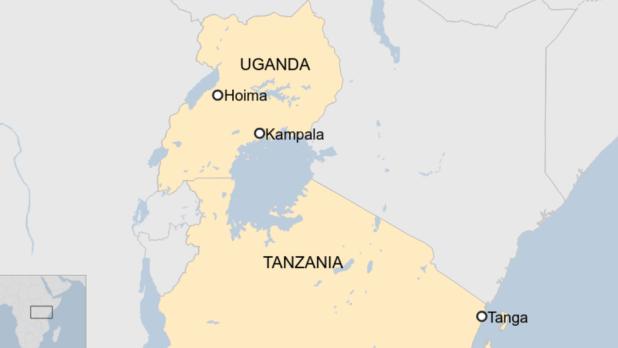 A map depicts Tanga in Tanzania and Homa in Uganda.