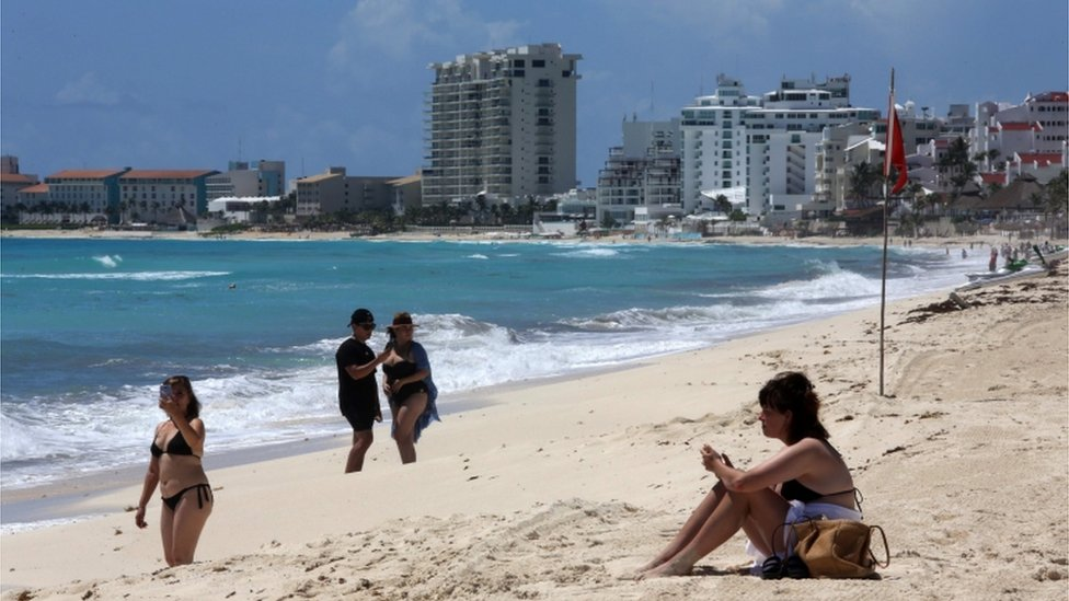 Playa en México