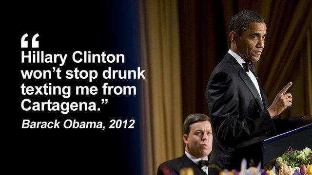president obama jokes at