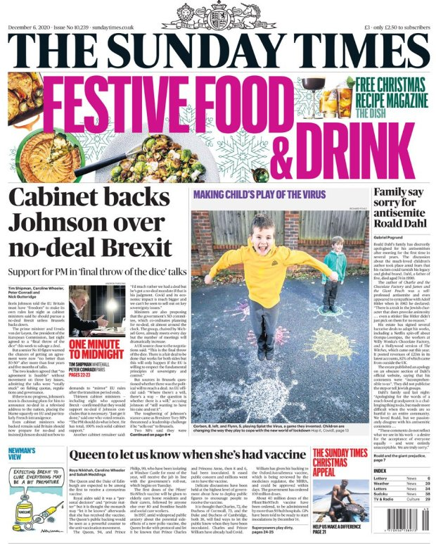 The Sunday Times 6 December